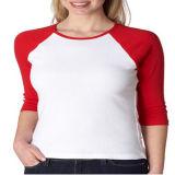T-shirt da luva de Raglan das mulheres feitas sob encomenda lisas