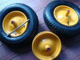 Het hoge RubberWiel van de Goede Kwaliteit (het wiel van Pu) voor de Vrachtwagen van de Hand van de Kruiwagen