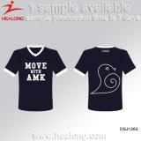 Healong Oberseite, die Subimation Hochschulliga-Dame-T-Shirt verkauft