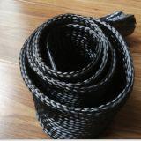 3k, fundas trenzadas de la funda de la fibra del carbón 12k para a prueba de calor