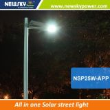 屋外IP65が道ランプ150lm/Wを防水する2017新製品は1つの太陽LEDの街灯のすべてを統合した