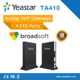 Asterisco T38 SIP e PSTN Trunk Supported 4 FXO Ports VoIP Analog FXO Gateway