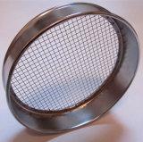Filtro de malla de alambre tejido de acero inoxidable de 500 micrones Tamiz de prueba de laboratorio de tamiz Micron
