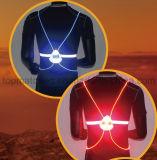 Veste reflexiva do esporte da iluminação de tira do diodo emissor de luz para a segurança de ciclagem