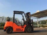 Nueva carretilla elevadora verde de la gasolina de Nissan del gas del LPG de la gasolina