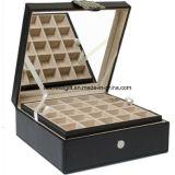 Caixa de jóia de 50 seções/caixa/suporte para botão de punho ou coleções