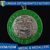 Medaglione su ordinazione della medaglia di oro del metallo di vendita calda 2017
