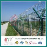 Frontière de sécurité de maille de frontière de sécurité de treillis métallique d'aéroport/rasoir d'aéroport