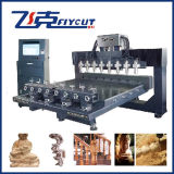 8ヘッド4 Axis Rotary CNC Wood EngravingかRouter Machine