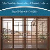 Puertas deslizantes de aluminio decorativas de la doble vidriera