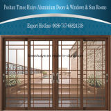 Puertas deslizantes de aluminio de la marca de fábrica Top10 con la doble vidriera para la decoración