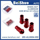 noix de cosse de roue d'extrémité ouverte de l'aluminium 4PCS/Set