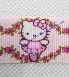 Тесемка сатинировки одиночной или двойной стороны Nylon с симпатичной печатью