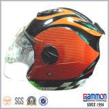 変化パターン(OP201)が付いている半分の表面オートバイのヘルメットかオートバイのアクセサリ