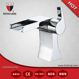 Cromo Plated Single Handle con Wide Spout Waterfall Faucet Mixer