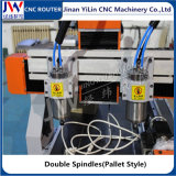 3D 입체 기복을%s 2개의 스핀들 목공 CNC 대패