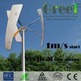 moinho de vento 300W vertical pequeno com o gerador de ímã permanente de Coreless