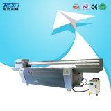 Máquina plana ULTRAVIOLETA de la pintura de fibras de la impresora de la baldosa cerámica del panel del fondo de la pared 3D del techo integrado de bambú de la impresora