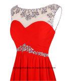 A dama de honra veste A - linha vestido de partido Chiffon de cristal perlado Assoalho-Comprimento da colher