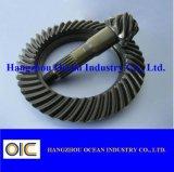 Pignon hélicoïdal en acier de pignon conique