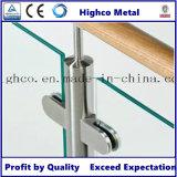 Collier en verre en acier inoxydable en forme de D pour escalier en verre