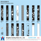 3-19mm härteten Silk Bildschirm gedrucktes Glas mit verschiedener Farbe ab