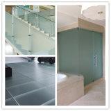 Ясное/покрашенное кисловочное травленое стекло/матированное стекло/опаковое стекло/просвечивающее стекло