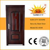 鉄のグリルのドアは設計する金属のドアの皮の鋼鉄ドアの価格(SC-S048)を