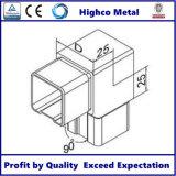 Coude carré de tube pour le système à rails d'acier inoxydable