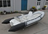 17FT Ponton-Boots-Fiberglas-Rumpf-Rippen-Boot Checp Preis-Schlauchboot