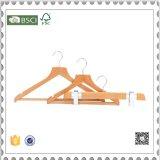カスタム木のハンガーの工場衣服の店のための木のズボンのハンガー