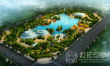 高品質の高レベル建築レンダリングの景色の計画