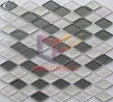 Cristal blanco de la mezcla gris y decoración hecha de cerámica mosaico material (CST212)