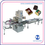 De Machine die van de Verpakking van de chocolade de Verpakkende Machine van de Chocoladereep vouwt
