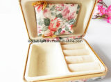 Armazenamento acessório da jóia do curso floral do caso do vintage da caixa de jóia