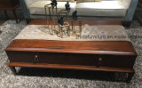 Nueva mesa de café clásica de madera maciza + MDF