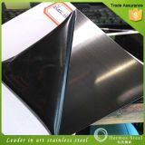 Edificio Materials Black Hairline Finish Stainless Steel Sheets para Decor Wall Paneling