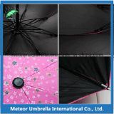 Fiore Lace Boarder Sun e Rain Gift Folding Umbrella