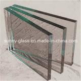 uso Tempered desobstruído do vidro laminado de 6.38mm para o Buliding