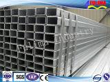Tubo de acero cuadrado galvanizado de /Rectangular para la estructura de acero