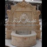 Мраморный каменный фонтан стены Mf-1046 кальция Antique травертина сада гранита