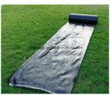 Anti tela tecida PP preta da paisagem do controle da grama