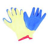 безшовная связанная перчатка вкладыша 10g с латексом покрыла, законченная морщинка