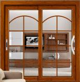 Elegante Form-hölzerne Luxuxfarben-Aluminiumschiebetür