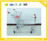 Carro de compra dobro do supermercado do trole do alimento da cesta com venda do preço de fábrica