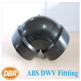 ABS Dwv de taille de 1.5 pouce ajustant 1/4 courbure courte