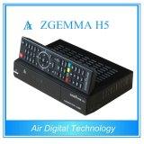 Canales completos caja de cable y receptor Zgemma H5 alta de la CPU de doble núcleo Linux OS E2 HEVC / H. 265 DVB-S2 + Híbridos DVB-T2 / C sintonizadores gemelos