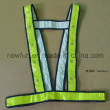 Het LEIDENE Opvlammende Weerspiegelende Hoge Zichtbare Vest van het Vest (keur aangepast goed)
