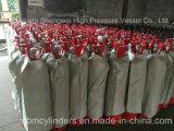 красные баки ацетиленового баллона 40L с клапанами & предохранителями клапана