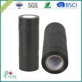 Fita elétrica elétrica adesiva do PVC da cor preta